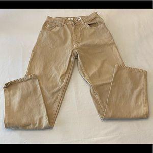 CALVIN KLEIN Vintage Men's Jeans, Tan, 31 x 32